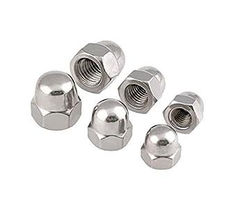 Lheng M4 Nickel Plated Acorn Hex Cap Nuts 300Pcs
