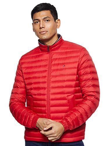 Tommy Hilfiger Herren Packable DOWN Jacket Jacke, Rot (Haute Red 611), X-Large (Herstellergröße:XL)