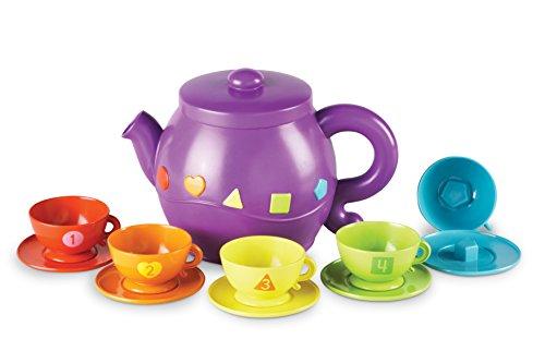 Learning Resources Serving Shapes Tea Set (11 Piece), Multicolor