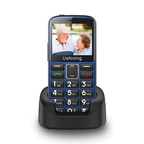 GSM Handy ohne Vertrag für Senioren mit SOS-Funktion,Farbdisplay 2,31 Zoll, Mobiltelefon mit extra großen Einzeltasten zur einfachen Bedienung