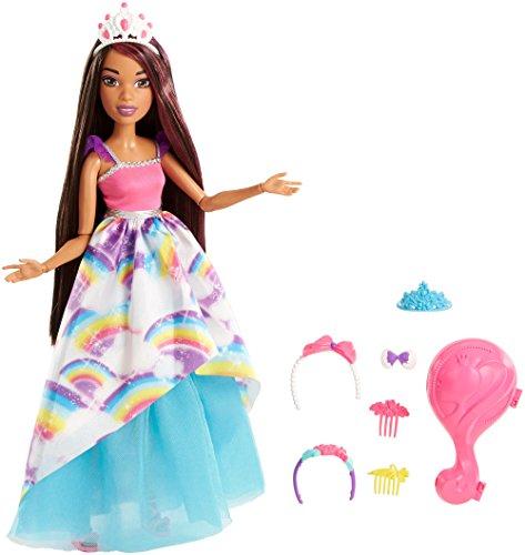 Barbie Dreamtopia, muñeca Gran Princesa Morena, juguete +3 años (Mattel FXC81)