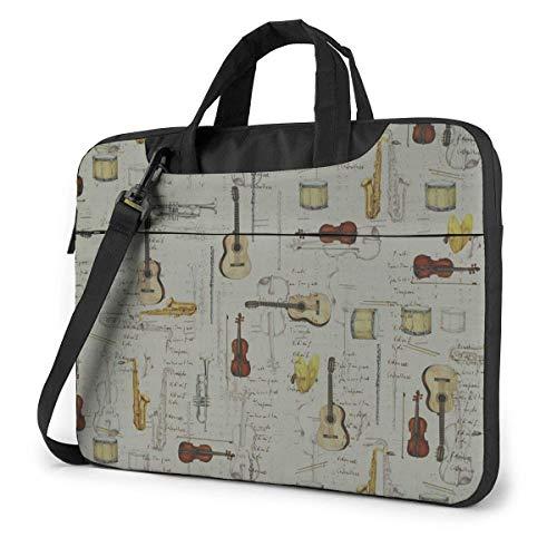 Laptop Case Computer Bag Sleeve Cover Musical Instruments Guitar Waterproof Shoulder Briefcase