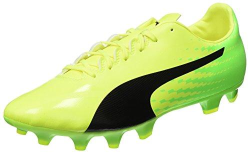 Puma Evospeed 17.2 FG, Botas de fútbol Hombre, Amarillo (Safety Yellow Black-Green Gecko 01), 44 EU