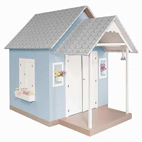 Casinha de Brinquedo com Telhado de Tijolos Azul Bebê - Criança Feliz