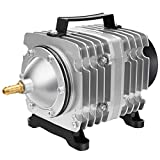 AquaMiracle Commercial Air Pump 18W-600GPH Super Power Electromagnetic Hydroponic Air Pump, Pond Aerator, Fish Tank Air Pump, Also for Fish Farm and Seafood Restaurant
