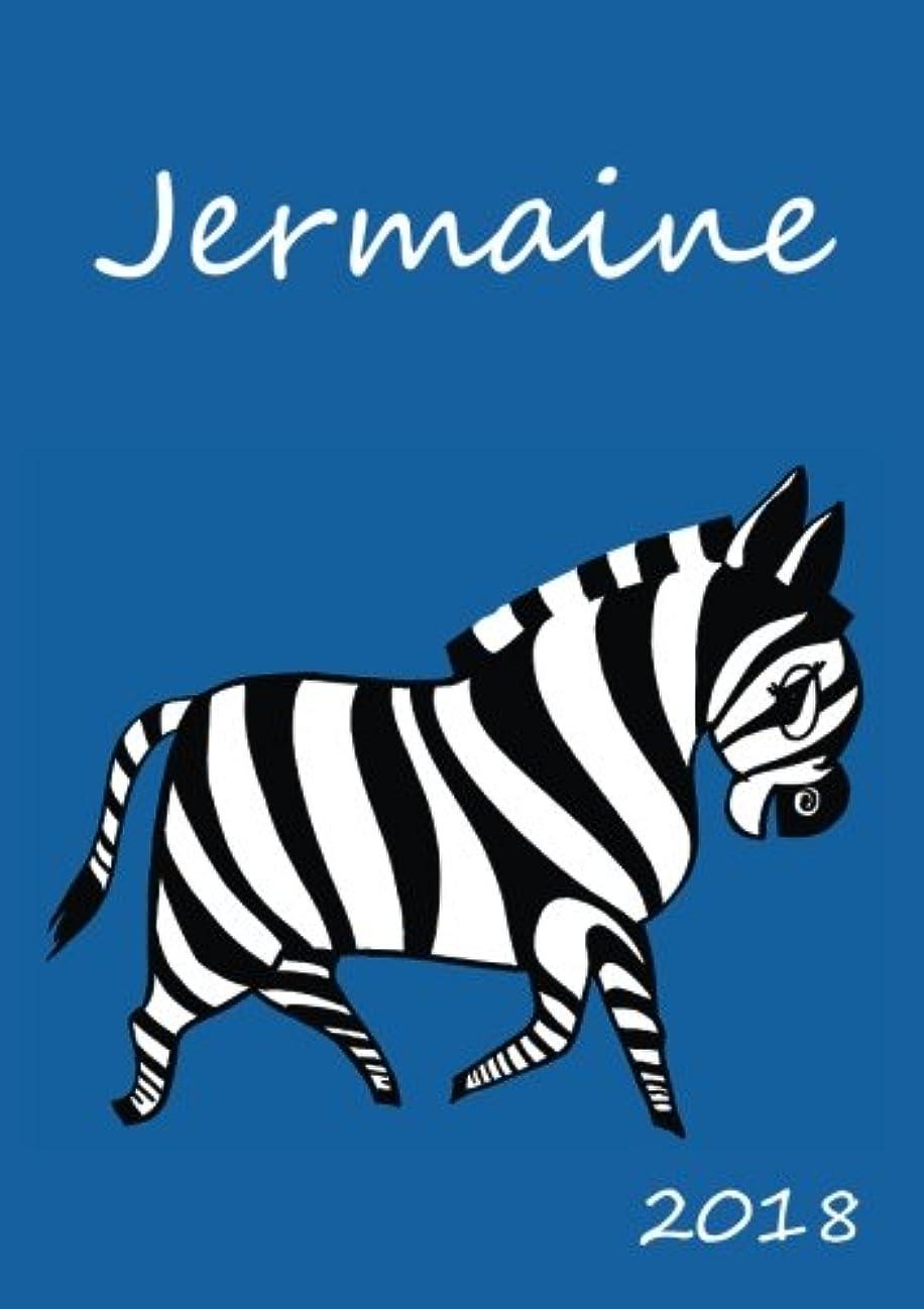 実験をする免除する大きさ2018: personalisierter Zebra-Kalender 2018 - Jermaine - DIN A5 - eine Woche pro Doppelseite