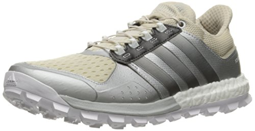 adidas Women's Raven W Running Shoe, Clear Brown/Neo Iron Metallic Matte Silver, 9.5 M US