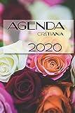 Agenda Cristiana 2020: Agenda cristiana, Dios, iglesia, notas, versiculo, Amor, biblia Cuaderno de notas A5, bonito y moderno con página protectora, ... con flores, rosas, jovenes estudios biblico