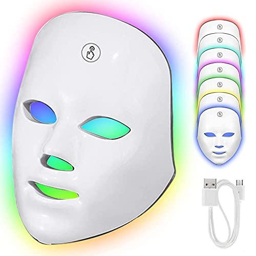 Masque Luminothérapie avec Interrupteur Tactile,...