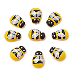 Flatback wooden bee embellishments; Pack of 100 Size: 12.5x8.7mm/0.49x0.34inch; Material: wooden Self-adhesive, easy to use, just simply peel off the paper of the back, then glue it in the area you want to decorate They are tiny and cute, suitable fo...