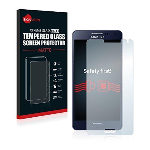 savvies Protector Cristal Mate Compatible con Samsung Galaxy A5 2015 - Dureza 9H, Antireflejos