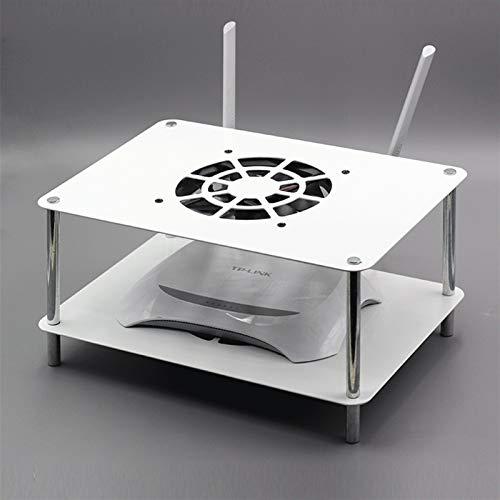 GZLL TV Console Multimedia Equipment Hack, Rack WiFi Router, Estantería Flotante para componentes de TV, 2 Niveles (Color : Blanco)