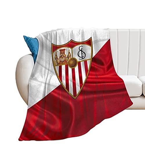 Sevilla FC - Manta de microfibra ultrasuave para sofá, cama, sofá, acogedora, ligera, para todas las estaciones de regalo, manta impresa en 3D, para niños y adultos, 150 x 100 cm