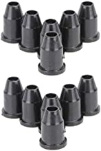 Timiy 12pcs Through Body Guitar String Mounting Ferrules for Guitar Replacement (Black)