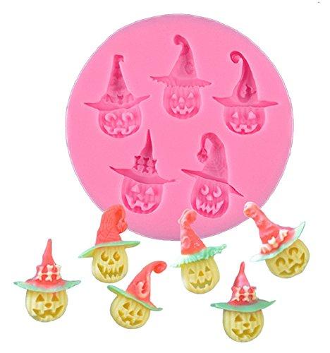Siliconen mal voor voedsel gebruik van 6 halloween pompoenen - suikerpasta - fondants - cakes - pannenkoeken - muffins - decoraties