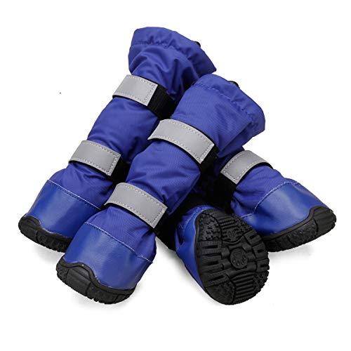 TFENG Dog Boots Pfotenschutz Stop Licking Wound Protection Hundeschuhe für große Hunde