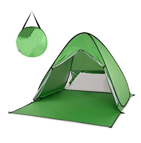 Tienda de campaña GDD para la playa, tienda de campaña automática, instantánea, ligera, para exteriores, protección UV, camping, pesca, cabaña, sol, refugio verde