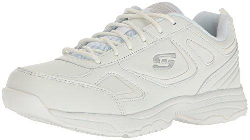 Skechers for Work Women's Dighton Bricelyn Work Shoe, White, 5.5 M US