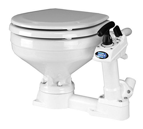 Jabsco Twist 'n' Lock Manueller Kopf Boot-Toilette, 29090-3000, weiß, 16