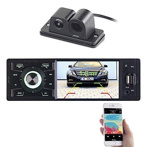 Creasono Autoradio DIN1: MP3-Autoradio mit TFT-Farbdisplay und Farb-Rückfahrkamera (1 DIN Autoradio mit Rückfahrkamera)