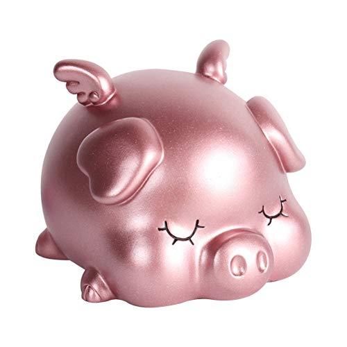 VOSAREA Nettes Sparschwein Sparen Sie Geld-Dosen Spardosen Schwein geformt Home Decoration Ornamente Rosa klein