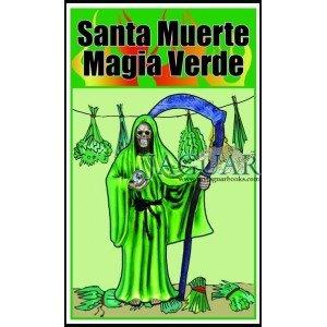 Santa Muerte Magia Verde Hechizos a Base De Flores Y Hierbas  Holy Death in Spanish   Santa Muerte