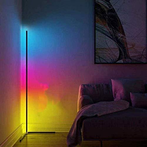 Lámpara De Pie Que Cambia De Color RGB con Control Remoto, Lámpara De Pie De Esquina De 20 W, Más De 16 Millones De Colores, Lámpara Que Cambia De Color para La Sala De Estar, Led Mood Floor Uplighte