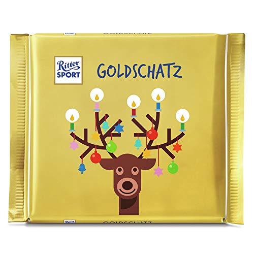 Ritter Sport Goldschatz Weihnachten, 12er Pack (12 x 145 g), 510A