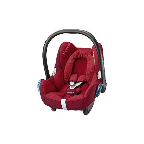 Maxi-Cosi CabrioFix Babyschale, Gruppe 0+ Kindersitz (0-13 kg), nutzbar ab der Geburt bis ca. 12 Monate, Kollektion 2017, robin red