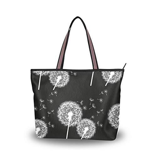 Leila Marcus Damen Handtasche mit Tragegriff, Blumen, Pusteblumen, Patern, Wie gezeigt1 - Größe: Einheitsgröße