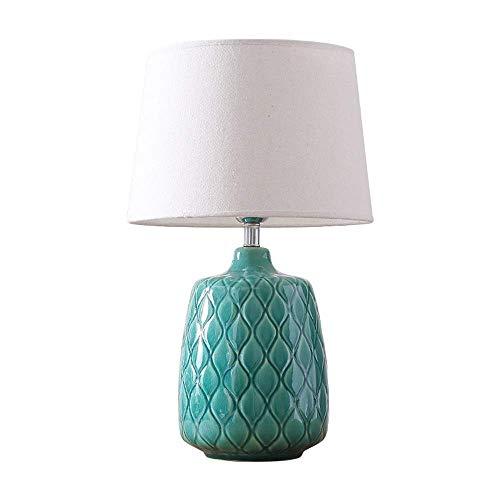 STERB Lámpara de Mesa, Lámpara de Mesa Moderna Cerámica Oval Beige Pantalla for Sala de Estar Dormitorio Familiar Mesita de Noche (Color : B)