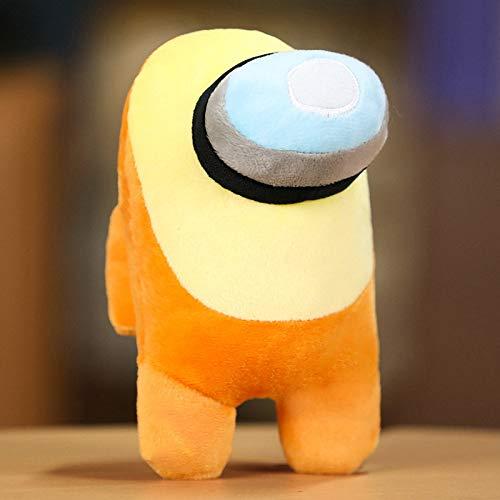 Among-Us Cute Game Plush Toy 8' Crewmate Plush Doll Hot Game Plush Figure Toys With Smart Bulging Eyes Yellow