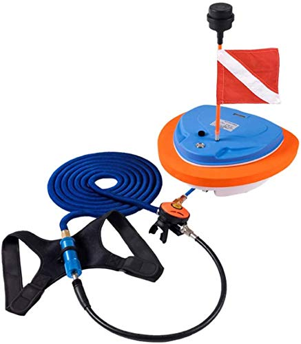 AQUAROBO® Nemo tragbares und wiederaufladbares Tauchsystem, für Wassersport, Tauchen. Elektrische wasserdichte Luftpumpe, mit 11,9 m langem Schlauch und Regler, Octopus Hookah mit Mundstück