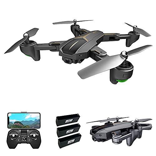 Walmeck VISUO XS812 Drone con cámara 4K Drone GPS 5G WiFi FPV Drone Plegable Modo sin Cabeza GPS Seguimiento de Gestos Disparo con una tecla de Retorno Drone para Adultos