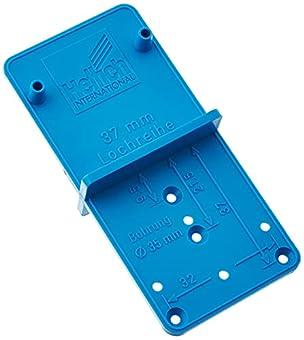 Bohrlehre für Systemborungen im Raster 32 schnelles Erstellen von Bohrungen für Montageplatten, Dübel, Steck-Bodenträger… Ankörnlehre für alle gängigen Topfscharniere (Hettich) sowohl für Mini-Scharnier (Topfdurchmesser 26 mm) als auch für Standard-S...