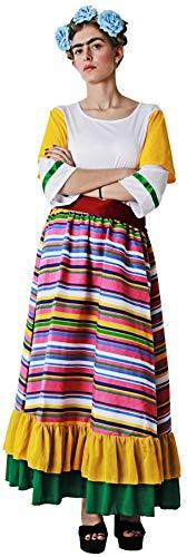 Gojoy Shop- Disfraz de Mejicana para Mujeres Carnaval (Contiene Vestido y Cinturón, Talla Unica)