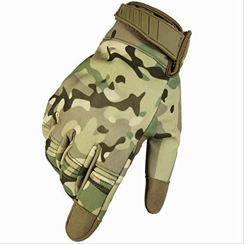 AMZIJ GlovesCamouflage Wasserdichte Handschuhe Herren Vollfinger Tactical Handschuhe Swat Soldiers Paintball Airsoft Shoot Militärhandschuhe M CP