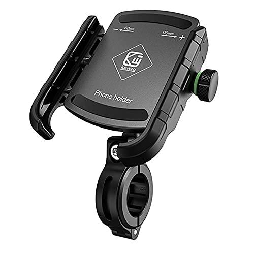 Soporte de Montaje de Espejo Trasero del Cargador inalámbrico de la Motocicleta QC3.0 con la Carga rápida USB para el Soporte del teléfono Inteligente del teléfono móvil el Manillar