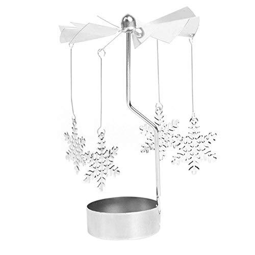 Vory Hot Spinning Rotary Metall Karussell Teelicht Kerzenhalter Standlicht Kandelaber de Cristal Centro de mesa-B