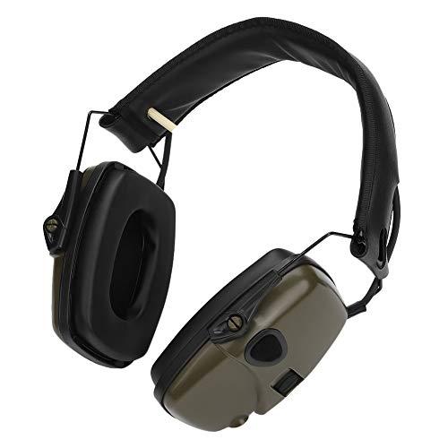 Vbestlife Orejera Deportivo de Tiro Electrónico Amplificación de Sonido Orejeras de Disparo Orejeras de Protección Auriculares con Reducción de Ruido Esponja Suave Cómodo de Usar(Verde)