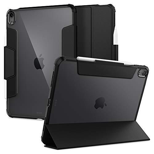 Spigen Ultra Hybrid Pro Hülle Entwickelt für iPad Air 4 Generation 10.9 Zoll Schutzhülle mit Stifthalter / mit Ständer (2020) - Schwarz