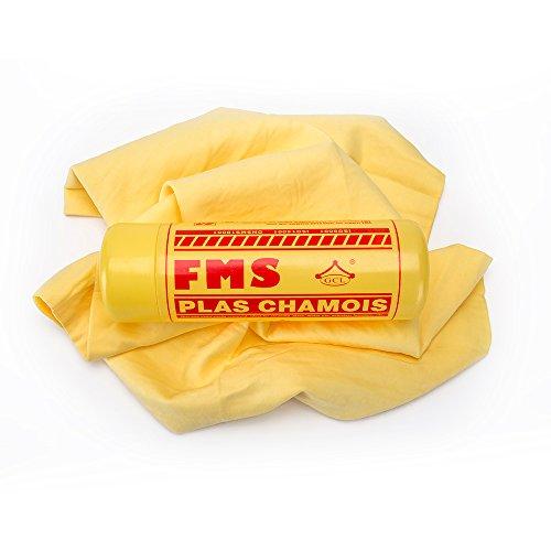 FMS Spessi Panno in Pelle di Daino Sintetica per Asciugatura Asciugamano Scamosciato Assorbente Morbido Grande 64x43cm -1 Pezzi