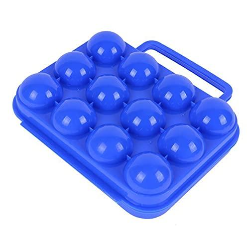 Hueveras Sostenedor,Huevera Bandeja,Huevos Caja,Huevera portátil Cartón,Huevera de Plástico ,Seguro y Duradero,Cuadrículas de 12 Huevos de Plástico Portátil Picnic al Aire Libre