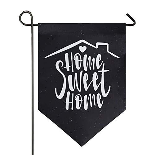 VLOOQ-HX Home Sweet Home Heart Star Garden Flag Double Face Home Yard Decor Banner Outdoor 12.5 x 18 Pouces