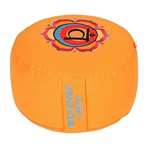 Meditationskissen Glückssitz Chakra, 2.Chakra Sakral-Chakra (Swadhisthana) / orange