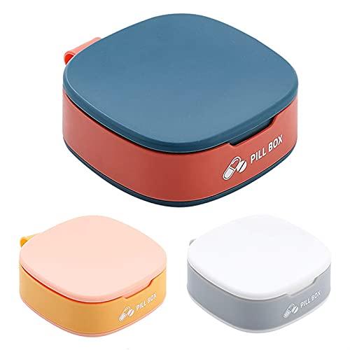 FENGNANMY Botiquin 1 unids Medicina Caja píldora Caja de Almacenamiento portátil Mini píldora Cajas joyería Caramelo Caja de Almacenamiento casero Caso contenedor (Color : Orange Blue)