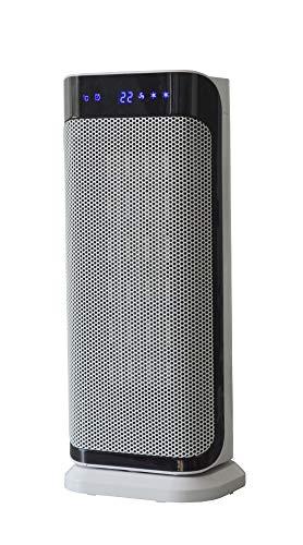 SHX SHX20KH2000LD Heizlüfter, Keramik, Schnellheizer mit waschbarem Luftfilter-2000 Watt, 3 Leistungsstufen,Oszillation, Timerfunktion, LED Display, Kippschutz, 10°C 35°C, Fernbedienung, Geräuscharm
