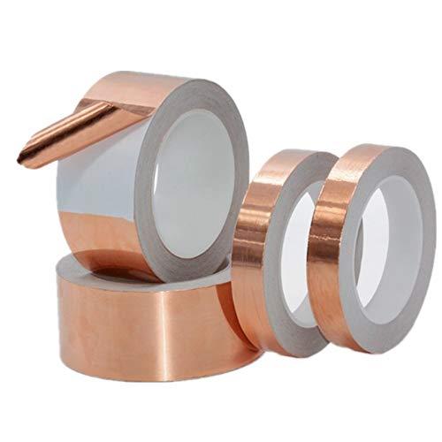 Gouen Klebefolienband Klebeband Leitendes KupferschildAnti statisches einseitiges Reparaturband Eliminieren, 10 Meter, 30 mm