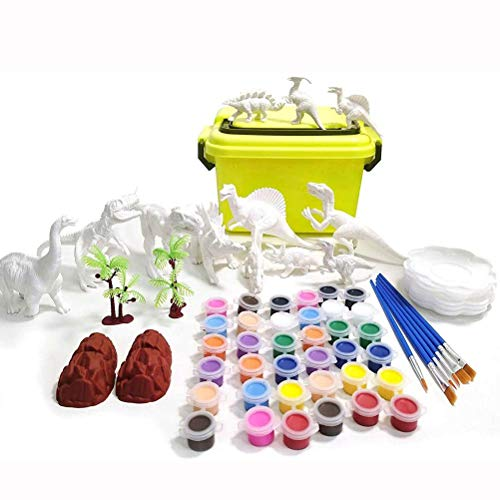 WLPTION Dinosaur Toys Painting Kit,DIY Art and Craft 3D Paint Your Own Unique Dinosaur for Boys Girls Age 3 4 5 6 7 8 Birthday Christmas Dino Gifts