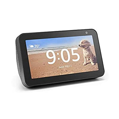 Certified Refurbished Echo Show 5 – Compact smart display with Alexa - Charcoal by Amazon